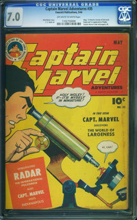 Captain Marvel Adventures #35 (Fawcett Publications, 1944) CGC FN/VF 7.0 Off-white to white pages