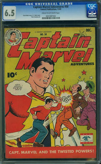 Captain Marvel Adventures #50 (Fawcett Publications, 1945) CGC FN+ 6.5 Cream to off-white pages