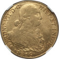 Colombia, Colombia: Ferdinand VII gold 8 Escudos 1816/4 NR-JF AU55 NGC,...