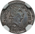 Chile, Chile: Charles IV 1/4 Real 1790-So MS64 NGC,...