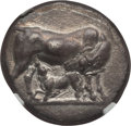 Ancients:Greek, Ancients: EUBOEA. Carystus. Ca. 300-250 BC. AR stater (6.74 gm).NGC XF 4/5 - 2/5, edge chips....