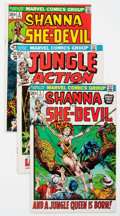 Bronze Age (1970-1979):Miscellaneous, Shanna the She-Devil/Jungle Action Group of 9 (Marvel, 1972-73)Condition: Average FN/VF.... (Total: 9 Comic Books)