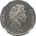 "German States:Bavaria, German States: Bavaria. Ludwig I ""Customs Union"" Taler 1833 MS64Prooflike NGC,..."
