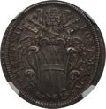 Italy:Papal States, Italy: Papal States. Clement XII 1/2 Piastra (1724)-IV MS63 NGC,...