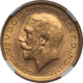 Australia, Australia: George V Sovereign 1912-S MS65 NGC,...