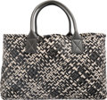 Luxury Accessories:Bags, Bottega Veneta Limited Edition Black, Gray & White Intrecciato Nappa Leather Cabat Tote Bag, 003/150. Very Good Condition...