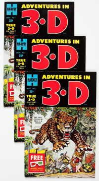 Adventures in 3-D #1 File Copies Group of 27 (Harvey, 1953) Condition: Average VF.... (Total: 27 Comic Books)