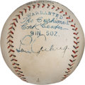 Baseball Collectibles:Balls, 1927 Lou Gehrig Single Signed Baseball....