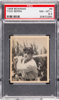 Baseball Cards:Singles (1940-1949), 1948 Bowman Yogi Berra #6 Rookie PSA NM-MT+ 8.5....