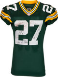 Football Collectibles:Uniforms, 2013 Eddie Lacy Game Worn, Unwashed Green Bay Packers Jersey - Worn 11/24 vs. Minnesota, Photomatched....