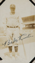 Baseball Collectibles:Photos, 1927 Babe Ruth Signed Original Photograph - Taken Before 37th HomeRun of Season. ...