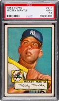 Baseball Cards:Singles (1950-1959), 1952 Topps Mickey Mantle #311 PSA NM+ 7.5....