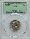 Jefferson Nickels, 1952-D 5C MS67 PCGS. PCGS Population: (6/0). NGC Census: (43/0). Mintage 30,638,000. ...