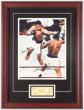 Boxing Collectibles:Autographs, Muhammad Ali & Floyd Patterson Dual Signed Framed Oversized Photo. ...