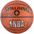 Basketball Collectibles:Balls, 1987-88 Boston Celtics Team Signed Basketball With 14 SignaturesIncluding Lewis, Bird, Parish, etc. ...