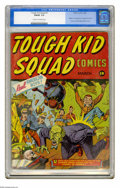 """Golden Age (1938-1955):Superhero, Tough Kid Squad Comics #1 (Timely, 1942) CGC FN/VF 7.0 Cream to off-white pages. """"Highly prized due to its rarity"""" is how Ov..."""