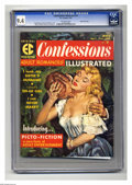 """Magazines:Romance, Confessions Illustrated #1 Gaines File Copy pedigree (EC, 1956) CGC NM 9.4 Off-white pages. One of EC's """"picto-fiction"""" maga..."""