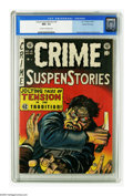 Golden Age (1938-1955):Crime, Crime SuspenStories #16 Gaines File pedigree 3/12 (EC, 1953) CGC NM+ 9.6 Cream to off-white pages. This slasher cover must h...