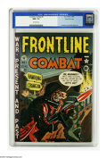 Golden Age (1938-1955):War, Frontline Combat #1 Gaines File pedigree 3/9 (EC, 1951) CGC NM+ 9.6Off-white pages. The first issue of the highly-acclaimed...