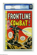 Golden Age (1938-1955):War, Frontline Combat #4 Gaines File pedigree (EC, 1952) CGC NM+ 9.6 Off-white to white pages. This Harvey Kurtzman title sometim...