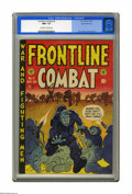 Golden Age (1938-1955):War, Frontline Combat #6 Gaines File pedigree 6/9 (EC, 1952) CGC NM+ 9.6Off-white to white pages. The hard-hitting war action he...