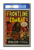 Golden Age (1938-1955):War, Frontline Combat #7 Gaines File pedigree 7/10 (EC, 1952) CGC NM 9.4Off-white to white pages. Harvey Kurtzman's ambitious un...