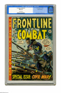 Golden Age (1938-1955):War, Frontline Combat #9 Gaines File pedigree 7/10 (EC, 1952) CGC NM 9.4Off-white pages. This Civil War theme issue has art by J...
