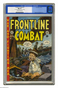 Golden Age (1938-1955):War, Frontline Combat #10 (EC, 1953) CGC NM 9.4 Off-white to whitepages. The haunting cover is by John Severin and Bill Elder, w...