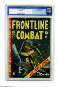 """Golden Age (1938-1955):War, Frontline Combat #12 Gaines File pedigree (EC, 1953) CGC NM- 9.2Off-white pages. The Jack Davis cover touts a special """"Air ..."""