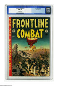 Golden Age (1938-1955):War, Frontline Combat #13 Gaines File pedigree (EC, 1953) CGC NM+ 9.6 Off-white pages. Wally Wood did his first of three covers h...