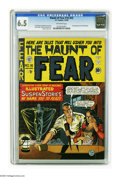 Golden Age (1938-1955):Horror, Haunt of Fear #16 (#2) (EC, 1950) CGC FN+ 6.5 Off-white pages. TheOld Witch, the GhouLunatic hostess of Haunt of Fear, made...