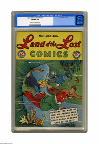 Land of the Lost #1 (EC, 1946) CGC VF/NM 9.0 Light tan to off-white pages. Based on the Mutual Coast-to-Coast radio prog...