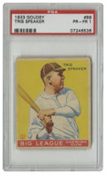 Baseball Cards:Singles (1930-1939), 1933 Goudey Tris Speaker #89 PSA PR-FR 1. Regarded among his peers as one of the finest players to ever play the game, Tris...