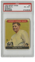 Baseball Cards:Singles (1930-1939), 1933 Goudey Sport Kings Babe Ruth #2 PSA PR-FR 1. The Great Bambino makes an appearance for this #2 entry from Goudey's 193...