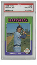 Baseball Cards:Singles (1970-Now), 1975 Topps George Brett #228 PSA NM-MT 8. Impressive use of color is one of the hallmarks of the 1975 Topps issue. Here we...