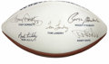 Football Collectibles:Balls, Dallas Cowboys Multi-Signed Football. Legendary members of the Dallas Cowboys and the football Hall of Fame added their sig...