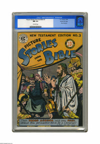 Picture Stories from the Bible New Testament Edition #3 Gaines File pedigree (EC, 1946) CGC NM 9.4 Off-white pages. Alle...