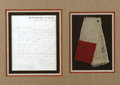 Military & Patriotic:Civil War, THREE FRAGMENTS OF THE LAST CONFEDERATE FLAG TO FLY OVER THE RICHMOND CAPITOL APRIL 3, 1865.... (Total: 2 Items)