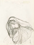 Original Comic Art:Sketches, Barry Smith - Cloaked Figure Sketch Original Art (1979)....