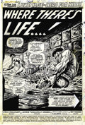 Original Comic Art:Splash Pages, George Tuska and Billy Graham - Hero for Hire #11 Splash Page 1original Art (Marvel, 1973)....