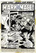 Original Comic Art:Splash Pages, George Tuska and Billy Graham - Hero for Hire #3 Splash Page 1Original Art (Marvel, 1972)....
