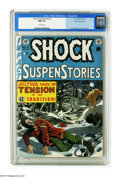 Golden Age (1938-1955):Horror, Shock SuspenStories #3 Gaines File pedigree 9/12 (EC, 1952) CGC NM9.4 Off-white pages. This issue's woolly Wally Wood cover...