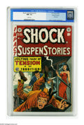 Golden Age (1938-1955):Horror, Shock SuspenStories #10 Gaines File pedigree (EC, 1953) CGC NM+ 9.6White pages. Jack Kamen was EC's go-to guy when it came ...