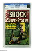 Golden Age (1938-1955):Horror, Shock SuspenStories #18 Gaines File pedigree (EC, 1955) CGC NM 9.4Off-white to white pages. This is the last issue of a fan...