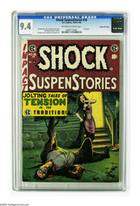 Shock SuspenStories #18 Gaines File pedigree (EC, 1955) CGC NM 9.4 Off-white to white pages. This is the last issue of a...