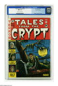 "Golden Age (1938-1955):Horror, Tales From the Crypt #22 Gaines File pedigree 3/10 (EC, 1951) CGCNM+ 9.6 Off-white to white pages. In ""The Curse of the Arn..."