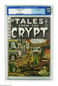 "Golden Age (1938-1955):Horror, Tales From the Crypt #25 Gaines File pedigree 7/12 (EC, 1951) CGCNM+ 9.6 Off-white pages. Al Feldstein's ""night in the wax ..."