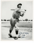 Autographs:Photos, Chick Hafey Signed Black and White Photograph. Known as a strongline-drive hitter, Hafey was part of two World Series cham...