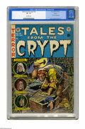 Golden Age (1938-1955):Horror, Tales From the Crypt #29 Aurora pedigree (EC, 1952) CGC VF- 7.5Off-white pages. Jack Davis buried his pencils into this iss...