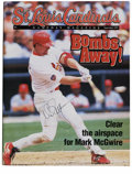 Autographs:Letters, Mark McGwire Signed St. Louis Cardinals Program. Breaking thesingle season home run record for rookies in 1987, Mark McGwi...
